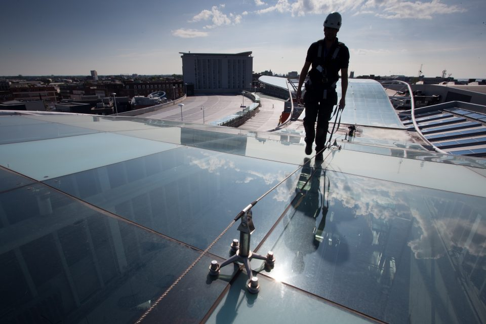 Cable Fall Protection on Glass Roof